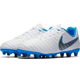 Buty piłkarskie Nike Tiempo Legend 7 Club Fg Jr AH7255 107 białe wielokolorowe 4