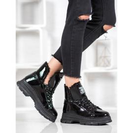 Bella Paris Sneakersy Z Lakierowanej Eko Skóry czarne 6