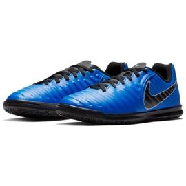 Buty piłkarskie Nike Tiempo Legend 7 Club Ic Jr AH7260 400 niebieskie granatowe 2