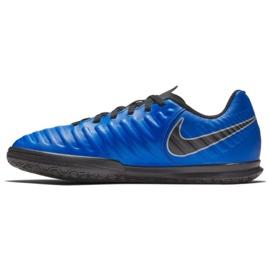 Buty piłkarskie Nike Tiempo Legend 7 Club Ic Jr AH7260 400 niebieskie granatowe 3