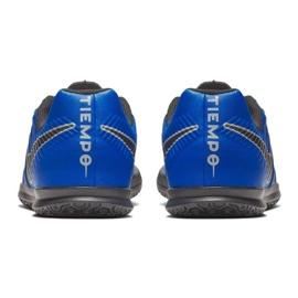 Buty piłkarskie Nike Tiempo Legend 7 Club Ic Jr AH7260 400 niebieskie granatowe 4