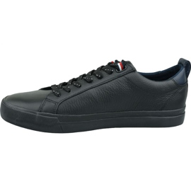 Buty Tommy Hilfiger Flag Detail Leather Sneaker M FM0FM02576 Bds czarne 1