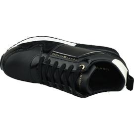 Buty Tommy Hilfiger Leather Wedge Sneaker W FW0FW04420 990 czarne 2