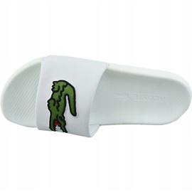 Klapki Lacoste Croco Slide 319 738CMA0073082 białe 2