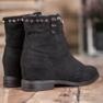 Ideal Shoes Ciepłe Kowbojki Z Dżetami czarne 4