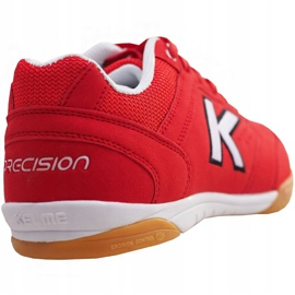 Buty halowe Kelme Precision Indoor 55211 0130 czerwone czerwony 3