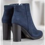 Ideal Shoes Klasyczne Botki Na Obcasie niebieskie 2