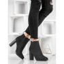 Ideal Shoes Klasyczne Botki Na Obcasie czarne 5