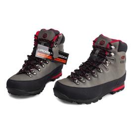 Profesjonalne Obuwie Trekkingowe 6540 Szary szare 4