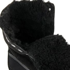 Stylowe Traperki Z Kożuszkiem czarne 2