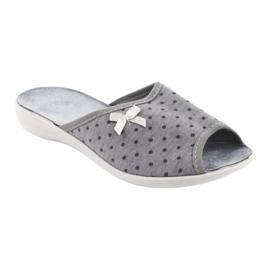 Befado obuwie damskie pu 254D047 szare 1