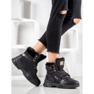 Yes Mile Sneakersy Z Futerkiem czarne 5