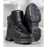 SHELOVET Ocieplane Sneakersy czarne 4