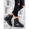 SHELOVET Ocieplane Sneakersy czarne 1