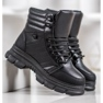 SHELOVET Ocieplane Sneakersy czarne 3