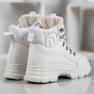 SHELOVET Ocieplane Sneakersy białe 3
