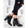 Ideal Shoes Wygodne Botki czarne 4