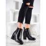 Ideal Shoes Wygodne Botki czarne 1