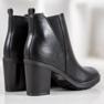 Ideal Shoes Wygodne Botki czarne 2