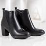 Ideal Shoes Wygodne Botki czarne 3