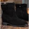 Ideal Shoes Ciepłe Kowbojki Na Koturnie czarne 3