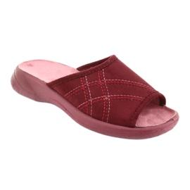 Befado obuwie damskie pu 442D146 wielokolorowe czerwone 2