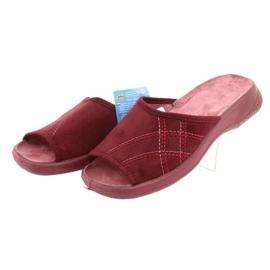 Befado obuwie damskie pu 442D146 wielokolorowe czerwone 4