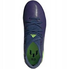 Buty piłkarskie adidas Nemeziz Messi 19.3 Fg Jr EF1814 fioletowe żółte 1