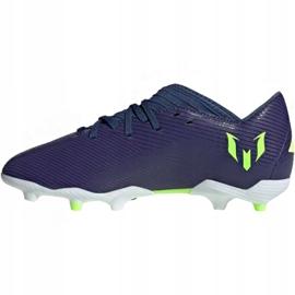 Buty piłkarskie adidas Nemeziz Messi 19.3 Fg Jr EF1814 fioletowe żółte 2