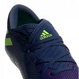 Buty piłkarskie adidas Nemeziz Messi 19.3 Fg Jr EF1814 fioletowe żółte 3