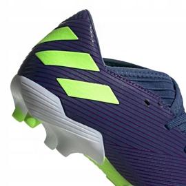 Buty piłkarskie adidas Nemeziz Messi 19.3 Fg Jr EF1814 fioletowe żółte 4