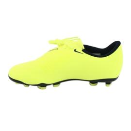 Buty piłkarskie Nike Phantom Venom Club Fg Jr AO0396-717 żółte 2