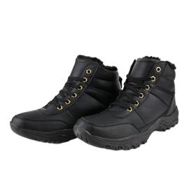 Czarne ocieplane buty trapery męskie GT-9578-1 2
