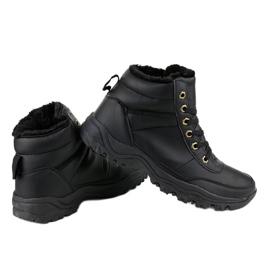 Czarne ocieplane buty trapery męskie GT-9578-1 3