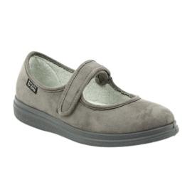 Befado obuwie damskie pu 462D001 szare 2