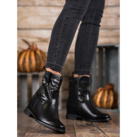 Ideal Shoes Kowbojki Z Eko Skóry czarne 3