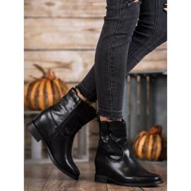 Ideal Shoes Kowbojki Z Eko Skóry czarne 2