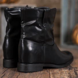 Ideal Shoes Kowbojki Z Eko Skóry czarne 1