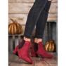 Ideal Shoes Sztyblety Z Brokatem czerwone 1