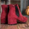Ideal Shoes Sztyblety Z Brokatem czerwone 3