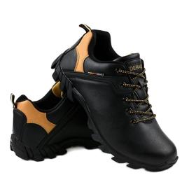 Czarne obuwie trekkingowe 2019A 4
