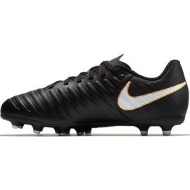 Buty piłkarskie Nike Tiempo Rio Iv Fg Jr 897731-002 czarne czarne 3