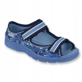 Befado obuwie dziecięce  969X141 granatowe niebieskie 1