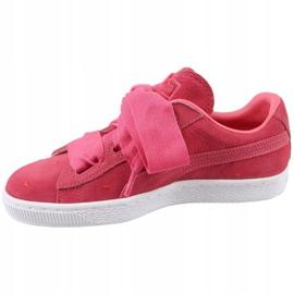 Buty Puma Suede Heart Jr 365135-01 czerwone 1