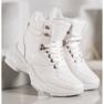 Ideal Shoes Sneakersy Z Eko Skóry białe 1