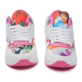 Buty Sportowe Sneakersy Trampki Neon R-50 Biały białe wielokolorowe 1
