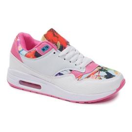 Buty Sportowe Sneakersy Trampki Neon R-50 Biały białe wielokolorowe 3