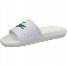 Klapki Lacoste Croco Slide 119 3 W 737CFA0005082 białe 1