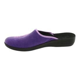 Befado obuwie damskie pu 552D001 fioletowe różowe 3