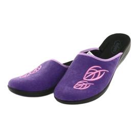 Befado obuwie damskie pu 552D001 fioletowe różowe 4